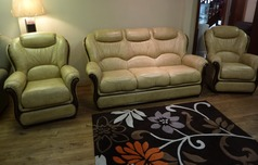 GEMMA 3 seater and 2 chairs- antique beige £1999 - Click for more details