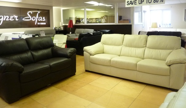 Pescaro 3 seater and 2 seater -cream/brown  £1749 (SUPERSTORE)