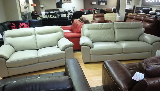Trento 3 seater and 2 seater silver grey £1299 (STG)
