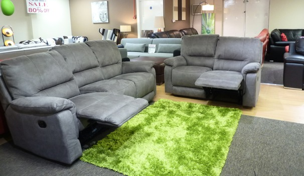Melanie recliner 3 seater and 2 seater-grey £1599 (SUPERSTORE)