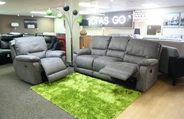 Melanie recliner 3 seater and 2 electric power chairs  grey £1799 (SUPERSTORE)