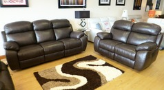 Barcelona electric recliner 3 seater and 2 seater £2499 mid brown  - Click for more details
