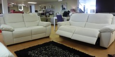 MARINO electric recliner 3 seater and 2 seater winter white £2699 - Click for more details