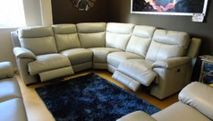Paris electric recliner corner feather grey £2499 - Click for more details