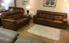 Cambridge 3 seater and 2 seater antique tan £2149 - Click for more details