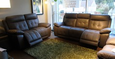TOLEDO electric recliner 3 seater and 2 seater £2399 taupe - Click for more details