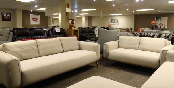 Malmo 3 seater and 2 seater beige £999 (SUPERSTORE)