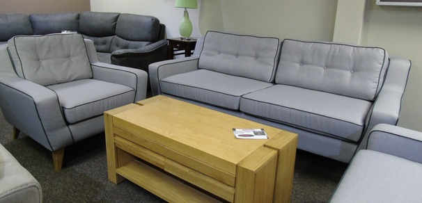 Peroda 815 3 seater and 1 chair grey fabric  £799 (SUPERSTORE)