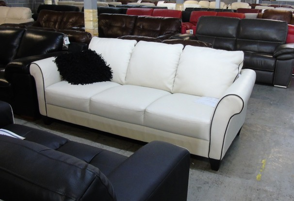Private label 3 seater sofa oyster (dark piping) £499 (CLEARANCE OUTLET)