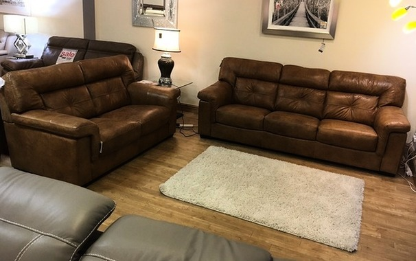Cambridge 3 seater and 2 seater light tan £1999 (SUPERSTORE)