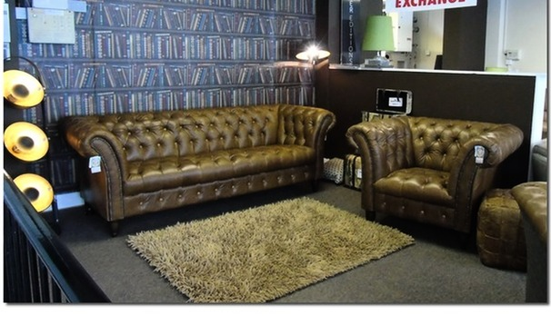 Chesterfield 3 seater and club chair vintage brown £2499 (SUPERSTORE)