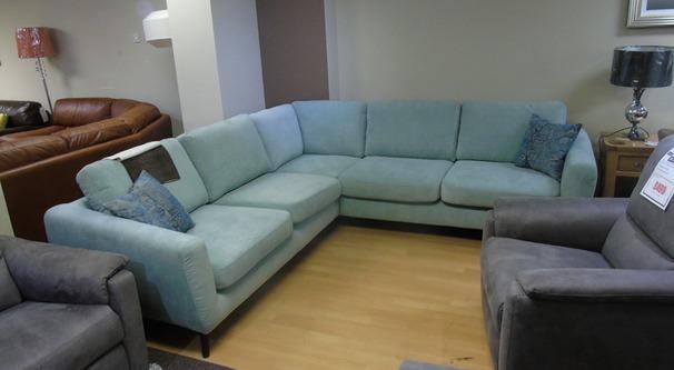 Cirrus corner suite light blue £999 (SUPERSTORE)
