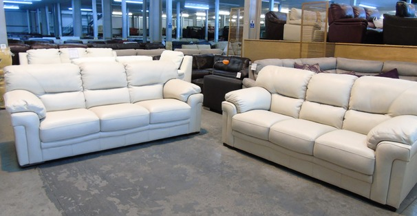 Linate 3 seater and Midi sofa cream £1499 (CLEARANCE OUTLET)
