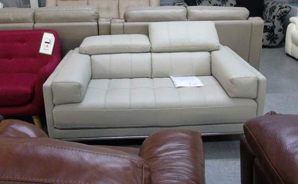 KUKA 2 seater beige leather look £299 (CLEARANCE OUTLET)