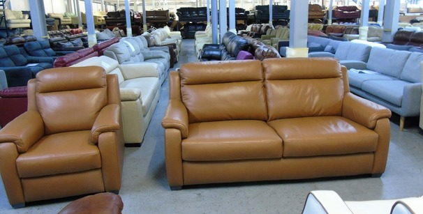 Mendip 3 seater and 1 chair deep gold £1499 (CLEARANCE OUTLET)
