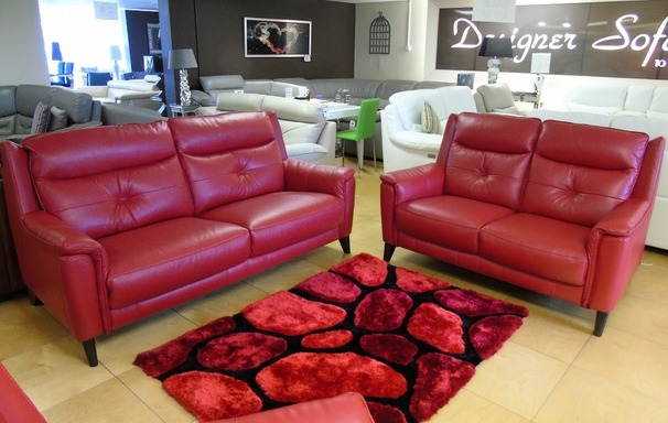 Winchester midi sofa and 2 seater red £1899 (SUPERSTORE)