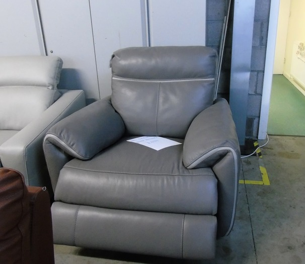 Oxford electric recliner chair dark grey 499 (CLEARANCE OUTLET)