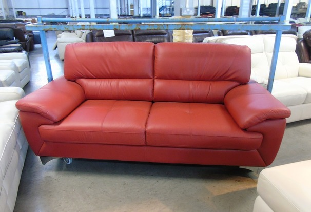 Barlow 3 seater red (£399) CLEARANCE OUTLET
