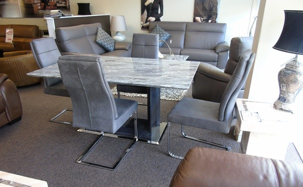 Grey Marble dining set and 4 chairs £999 (SUPERSTORE)