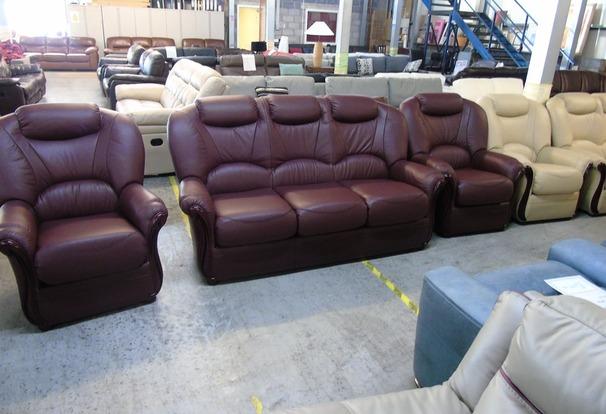 Garda 3 seater and 2 chairs Burgundy £1499 (CLEARANCE WAREHOUSE)