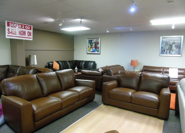 PORTO 3 seater and 2 seater vintage brown £1599 (SUPERSTORE)