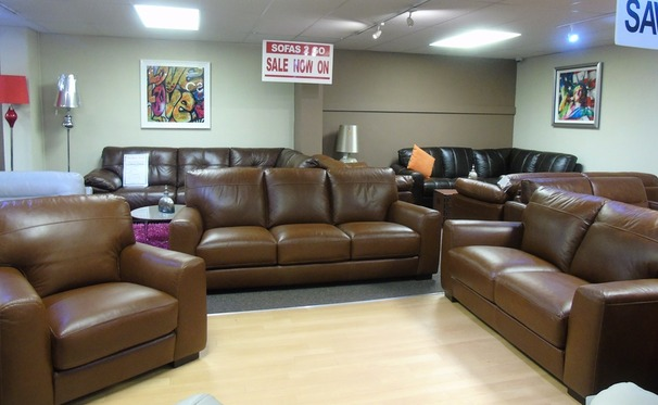 PORTO 3 seater, 2 seater and chair in vintage brown £2174 (SUPERSTORE)