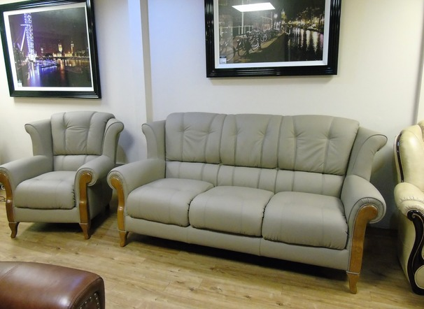 Royale 3 seater and 2 chairs taupe 2399 (SWANSEA)