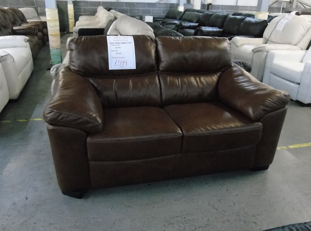 Pescaro 2 seater mid brown £599 (SUPERSTORE)