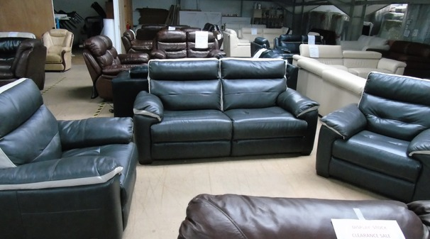 Le Mans 3 seater and 2 chairs dark grey  £1199 (CLEARANCE OUTLET)