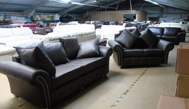 Boston fabric 3 seater and 2 seater earth grey £575 (CLEARANCE OUTLET)