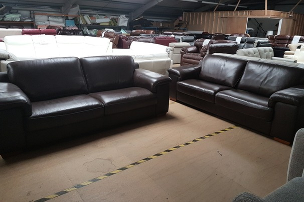 Madrid 3 seater and 3 seater brown 999 (CLEARANCE OUTLET)