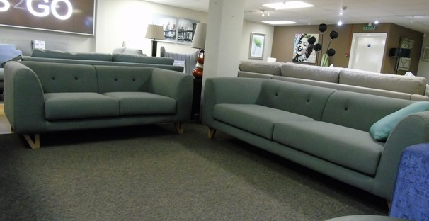 Peroda 956 3 seater and 2 seater grey £799 (SUPERSTORE)