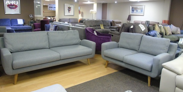 Odense 3 seater and 2 seater grey fabric £799 (SUPERSTORE)
