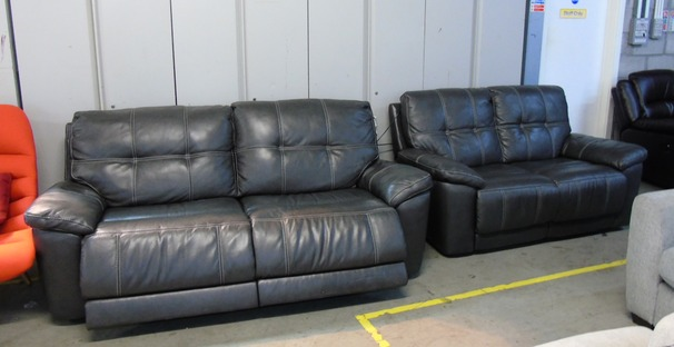 Modena electric recliner 3 seater and 2 seater  dark grey £699 (CLEARANCE OUTLET)