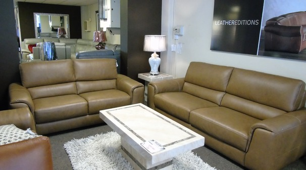 Imola 3 seater and 2 seater caramel £2999 (SUPERSTORE)