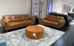 Cadiz 3 seater and 2 seater mid tan £1999 - Click for more details