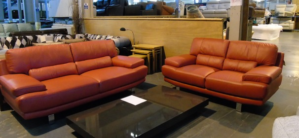 Fraisse 3 seater and 2 seater red   £799 (CLEARANCE OUTLET)