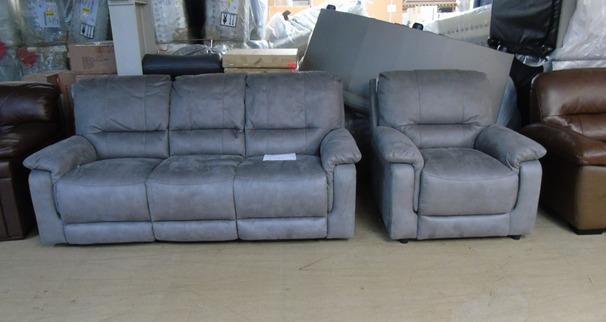 Melanie 3 seater recliner and static chair £999 (CLEARANCE WAREHOUSE)