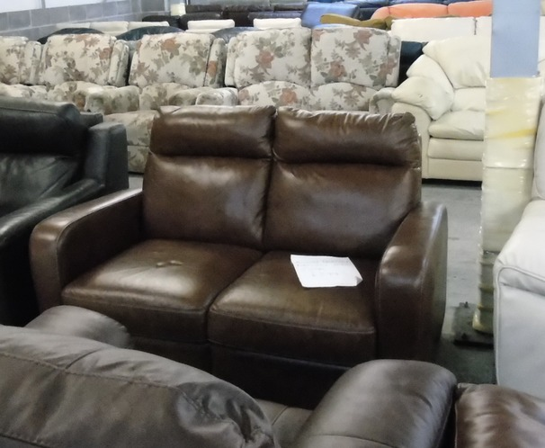 PRATO 2 seater mid brown £249 (CLEARANCE OUTLET)