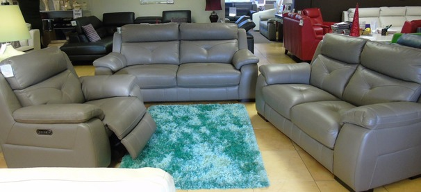 Strasbourg 3 seater and 2 seater and electric recliner chair  granite grey £2999 (SUPERSTORE)