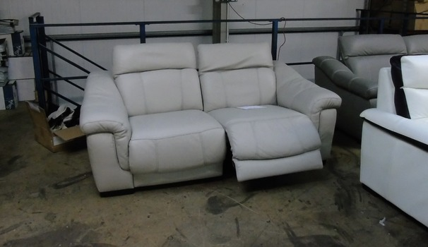 Lipari double electric recliner 2 seater stone £799 (SUPERSTORE)