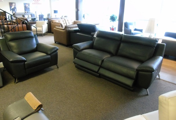 Roby electrc recliner 3 seater and chair slate grey  £2499 (SUPERSTORE)