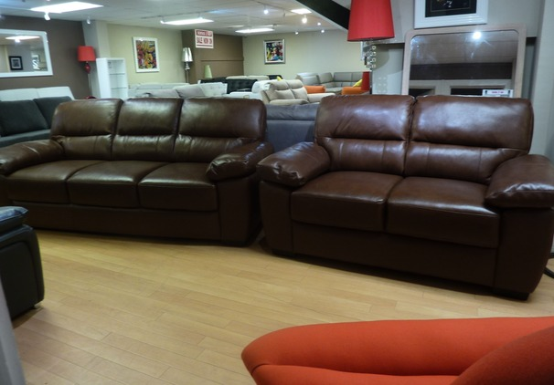 Donahue 3 seater and 2 seater  mid rust £799 (SUPERSTORE)