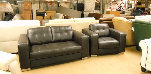 Parma 2 seater and 1 chair brown £599 (SUPERSTORE)