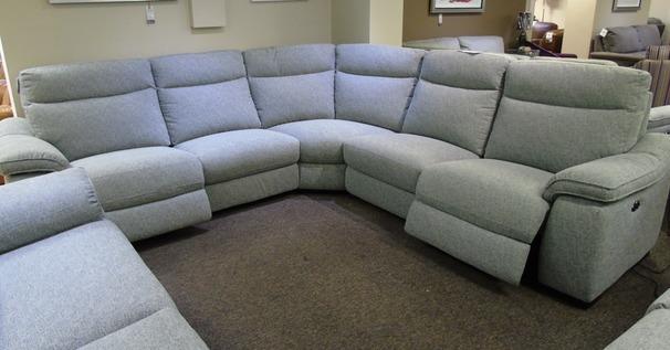 Marseille fabric recliner corner suite grey £1599 (SUPERSTORE)