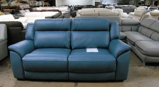 Caterina electrc recliner 3 seater blue £799 (SUPERSTORE)