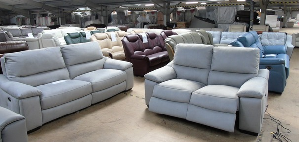 Provence electric recliner 3 seater and 2 seater dove grey fabric £1699 (SUPERSTORE)