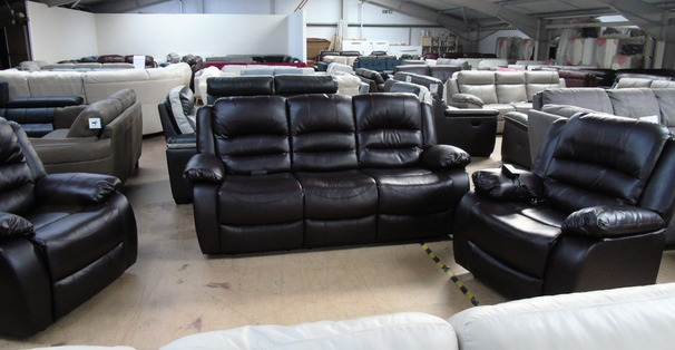 Clifton electric recliner 3 seater and 2 chairs dark brown  £799 (SUPERSTORE)
