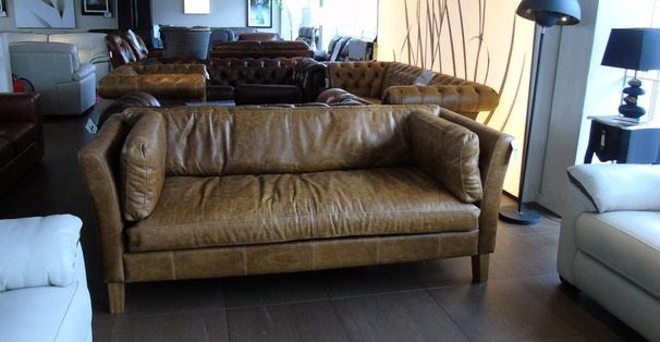 Milton 3 seater sofa vintage tan £999 (SUPERSTORE)