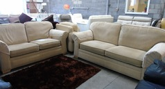 Beige fabric 3 seater and 2 seater £299 - Click for more details